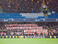 Football - 2019 / 2020 UEFA Champions League - Round of Sixteen, First Leg: Chelsea vs. Bayern Munich<br /> <br /> Bayern Munich fans protesting at ticket prices, at Stamford Bridge.<br /> <br /> COLORSPORT/ASHLEY WESTERN