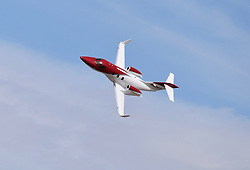 September 13, 2018 - Reno, Nevada, U.S. - RENO, NV - SEPTEMBER 13: The latest Honda HA-420 private jet flight demonstration at the 55th National Championship Air Races the only closed course pylon racing event in the world, and is the world's longest running air race held in Reno, NV. (Photos by Lyle Setter/Icon Sportswire) (Credit Image: © Lyle Setter/Icon SMI via ZUMA Press)
