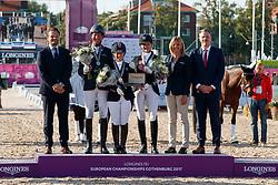 Wells Sophie, GBR, Hosmar Frank, NED, Geiger Nicole, SUI<br /> FEI European Para Dressage Championships - Goteborg 2017 <br /> © Hippo Foto - Dirk Caremans<br /> 23/08/2017,