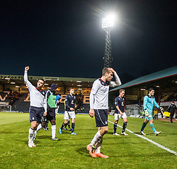 Falkirk's Mark Millar and Falkirk's Luke Leahy at the end.<br /> Dundee 1 v 1 Falkirk, Scottish Championship game at Dundee's home ground Dens Park.<br /> ©Michael Schofield.