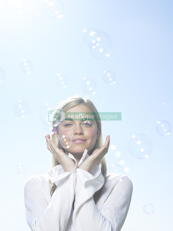 Jul. 10, 2008 - Girl with bubbles. Model Released (MR) (Credit Image: © Cultura/ZUMAPRESS.com)