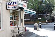 Cafe, Sandwich Street, London, England