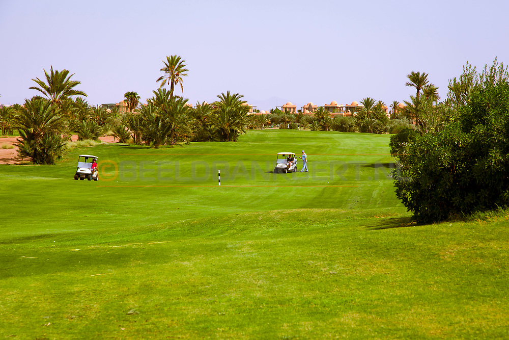 07-10-2015 -  Foto van Uitzichten op het resort bij PalmGolf Marrakech Palmeraie in Marrakech, Marokko. PalmGolf Marrakech Palmeraie was het eerste golfresort in Marokko. De 27-holes golfbaan  werd ontworpen door Robert Trent Jones Sr en valt onder het management van Troon Golf.