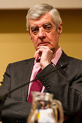Pictured: John McCormick FRSE<br /> <br /> Scottish event to inform the 'Future for Public Service Television Inquiry' chaired by Lord Puttnam. Speakers are Angela Haggerty, Editor, Common Space; David Fleetwood, Policy Official, Scottish Government; Stuart Cosgrove, journalist, broadcaster and former Head of Programmes (Nations and Regions), Channel 4; Professor Neil Blain, Professor Emeritus of Communications at the University of Stirling; John McCormick FRSE, Chair of the Scottish Screen Leadership Group, and former Controller of BBC Scotland <br /> Ger Harley | EEm 13 April 2016