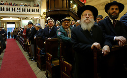 Rabi Lieberman of Antwerp, attends a memorial service at the Grand Synagogue in Brussels in remembrance of the liberation of the notorious Nazi concentration camp at Auschwitz. (Photo © Jock)