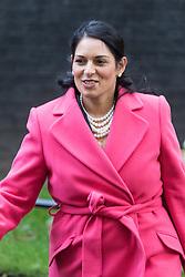 Downing Street, London, October 18th 2016. International Development Secretary Priti Patel leaves 10 Downing Street in London following the weekly cabinet meeting.