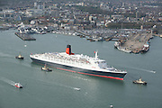 QE2 Leaves Southampton on her final world cruise.