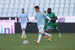 """Foto Filippo Rubin<br /> 21/11/2020 Ferrara (Italia)<br /> Sport Calcio<br /> Spal - Pescara - Campionato di calcio Serie B 2020/2021 - Stadio """"Paolo Mazza""""<br /> Nella foto: SEBASTIANO ESPOSITO (SPAL)<br /> <br /> Photo Filippo Rubin<br /> November 21, 2020 Ferrara (Italy)<br /> Sport Soccer<br /> Spal vs Pescara - Italian Football Championship League B 2020/2021 - """"Paolo Mazza"""" Stadium <br /> In the pic: SEBASTIANO ESPOSITO (SPAL)"""