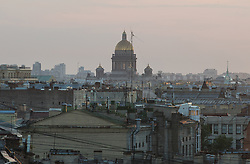 The sun sets over St Isaac's Cathedral in St Petersburg, Russia, on the eve of England's 3rd/4th place World Cup match against Belgium.