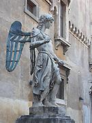 Raffaello da Montelupo's 'Arcangelo Michele' (St. Michael). Circa 1536-1544. Made for the top of the Castel Sant'Angelo, Rome, Italy.