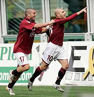 """L'esultanza di Alessandro Rosina (Torino) dopo il gol dell'1-0 con Nikola Lazetic (Torino)<br /> Alessandro Rosina (Torino) celebrates after scoring first goal with teammate Nikola Lazetic (Torino)<br /> Italian """"Serie A"""" 2006-07<br /> 11 Mar 2007 (Match Day 28)<br /> Torino-Catania (1-0)<br /> """"Olimpico""""-Stadium-Torino-Italy<br /> Photographer: Luca Pagliaricci INSIDE"""