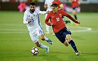 Fotball , 5. september 2017 , U21 Norge - Israel<br /> Norway - Israel 0-0<br /> Martin Ødegaard , Martin Odegaard ,  Norge<br /> Raz Nahmias , Israel