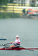 Tampere Kaukajaervi,  FINLAND.   Women's Single Sculls GER W1X. Katrin BORON Maria BRANDIN,  1995 World Rowing Championships - Lake Tampere, 08.1995<br /> <br /> [Mandatory Credit; Peter Spurrier/Intersport-images] Re-Edited and file ref No. updated, 16th January 2021.
