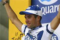 CYCLING - TOUR DE FRANCE 2004 - STAGE 14 - CARCASSONNE > NIMES - 18/07/2004 - PHOTO : NICO VEREECKEN / DIGITALSPORT<br /> AITOR GONZALEZ (ESP) / FASSA BORTOLO - WINNER