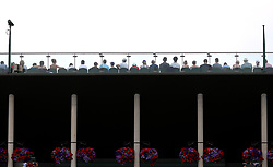 A general view of spectators on court 3 on day three of the Wimbledon Championships at the All England Lawn Tennis and Croquet Club, Wimbledon.