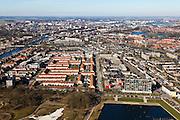 Nederland, Noord-Brabant, Den Bosch, 07-03-2010 ; .Overzicht van de stad met Zuid-Willemsvaart, gezien vanuit het oosten, Oosterplas in de voorgrond .luchtfoto (toeslag), aerial photo (additional fee required).foto/photo Siebe Swart