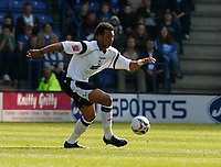 Photo: Steve Bond.<br />Leicester City v Derby County. Coca Cola Championship. 06/04/2007. Giles Barnes attacks