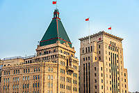 Shanghai, China - April 7, 2013 Peace Hotel and Bank of China buidings at the city of Shanghai in China on april 7th, 2013