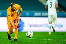 Jan Oblak of Slovenia during the UEFA Nations League C Group 3 match between Slovenia and Greece at Stadion Stozice, on September 3rd, 2020. Photo by Vid Ponikvar / Sportida