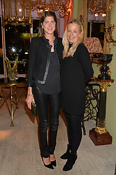 Left to right, PRINCESS FLORENCE TOLLEMACHE and ASTRID HARBORD at a party at Guinevere 574-580 ing's Road, London on 7th October 2014.