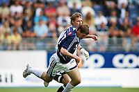 Fotball Tippeliga<br /> Viking Stadion 080608<br /> Viking - Bodø Glimt<br /> Foto: Sigbjørn Andreas Hofsmo, Digitalsport<br /> <br /> Pavel Londak - Andrius Velicka