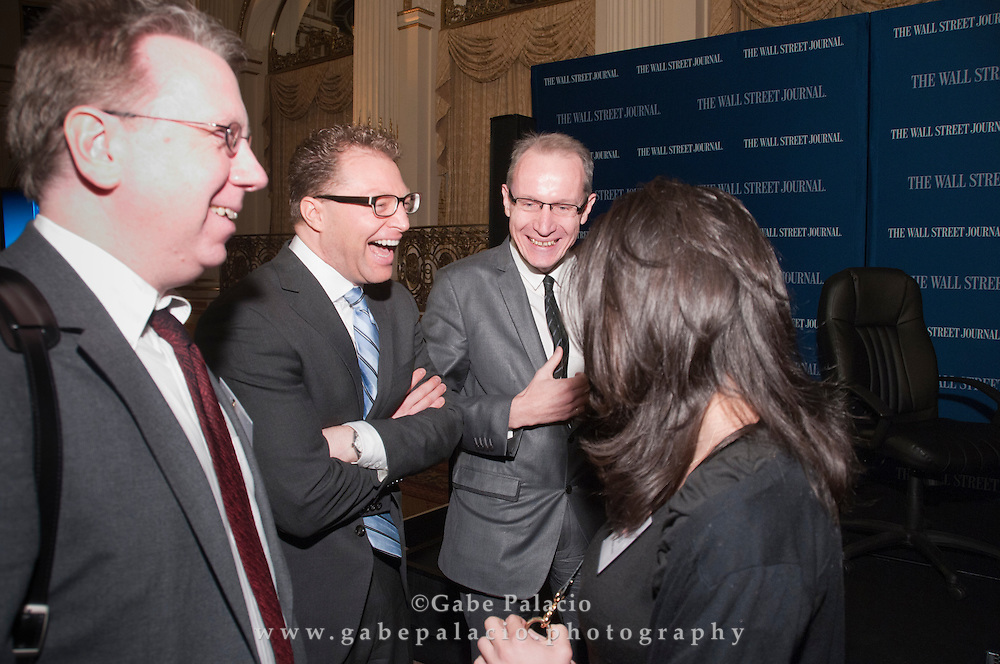 Attendees prior to The WSJ Future of New York series on Philanthropy in New York  in New York City on April 8, 2011.  (photo by Gabe Palacio)