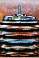 A 1947 Chevrolet flatbed truck grill