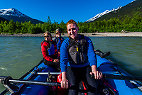 Rafting trip on the Taiya River with Skagway Float Tours, Dyea (near Skagway), Alaska USA.