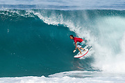 Jordy Smith of South Africa, a World Title contender advances directly to Round Three of the 2017 Billabong Pipe Masters after winning Heat 4 of Round One at Pipe, Oahu, Hawaii, USA.