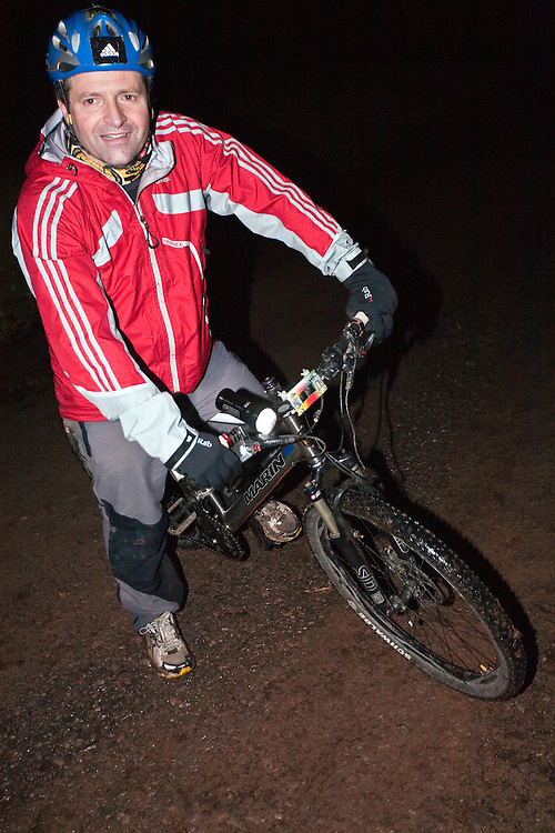 Richard Maddon during the night time mountain bike Training with AdidasTERREX on the Wenger Patagonia Expedition Race media day. 11/01/2011.Copyrighted work - Permission must be sought before use of this image..Alex Ekins +44 (0)7901 882994.