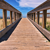 """""""On Board""""<br /> <br /> Scenic view from the boardwalk out to the beach at Glen Haven.<br /> <br /> The Great Lakes by Rachel Cohen"""