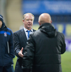 Cowdenbeath's manager Jimmy Nicholl and Falkirk's manager Peter Houston at the end. <br /> Falkirk 1 v 0 Cowdenbeath, William Hill Scottish Cup game played 29/11/2014 at The Falkirk Stadium.