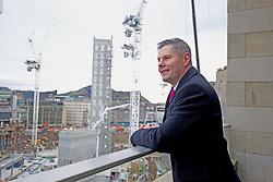 Finance Secretary Derek Mackay overlooking the St James Edinburgh construction site. pic copyright Terry Murden @edinburghelitemedia
