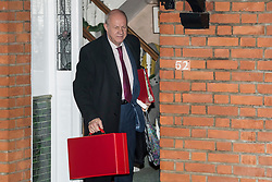 "© Licensed to London News Pictures. 20/12/2017. London, UK. First Secretary of State DAMIAN GREEN seen leaving his London home on December 20, 2017. The findings of an inquiry in to the conduct of MP Damian Green are expected to be released before parliament breaks for Christmas tomorrow (Thurs). Former police officers alleged that ""extreme"" pornography was found on Damian Green's work computer during a police raid in 2018. Green was already under investigation for allegedly propositioning former Tory activist, Kate Maltby. Photo credit: Ben Cawthra/LNP"