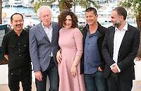 Yu Lik-wai, Jean-pierre Dardenne, Arsinée Khanjian, Emmanuel Carrere, Karim Aïnouz, the Jury De La Cinéfondation photocall at the 65th Cannes Film Festival France. Wednesday 23rd May 2012 in Cannes Film Festival, France.