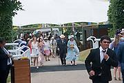 JOANNA ROGERS; SHEREEN GUERIN; DUKE OF RICHMOND; DUCHESS OF RICHMOND, Glorious Goodwood. Sussex. 28 July 2010, -DO NOT ARCHIVE-© Copyright Photograph by Dafydd Jones. 248 Clapham Rd. London SW9 0PZ. Tel 0207 820 0771. www.dafjones.com.