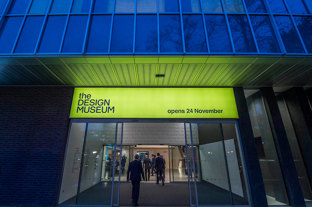 The Duke enters the building - The Duke of Edinburgh opens the new Design Museum in Kensington. The Design Museum has moved to Kensington High Street from its former home as an established London landmark on the banks of the river Thames.  The new museum will be devoted to contemporary design and architecture, an international showcase for the many design skills at which Britain excels and a creative centre, promoting innovation and nurturing the next generation of design talent. His Royal Highness toured the museum to view the transformation of a modernist building from the 1960s, which was the former Commonwealth Institute.  14 November 2016, London.