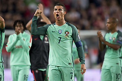 September 3, 2017 - Budapest, Hungary - Cristiano Ronaldo of Portugal celebrates during the FIFA World Cup 2018 Qualifying Round match between Hungary and Portugal at Groupama Arena in Budapest, Hungary on September 3, 2017  (Credit Image: © Andrew Surma/NurPhoto via ZUMA Press)