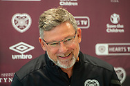 Heart of Midlothian manager Craig Levein laughs as he speaks to the press ahead of the Betfred Scottish League Football Cup quarter-final match against Aberdeen, at Oriam Sports Performance Centre, Heriot Watt University, Edinburgh Scotland on 24 September 2019. Picture by Malcolm Mackenzie