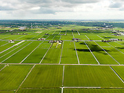 Nederland, Noord-Holland, Gemeente Schermer, 16-04-2012; Polder I, onderdeel van De Schermer, gezien naar  Eilandspolder met Beemster aan de verre horizon.Polder I, part of the polder Schermer, .regular land division designed on purpose  next to  Alkmaardermeer (lake, r).luchtfoto (toeslag), aerial photo (additional fee required);.copyright foto/photo Siebe Swart