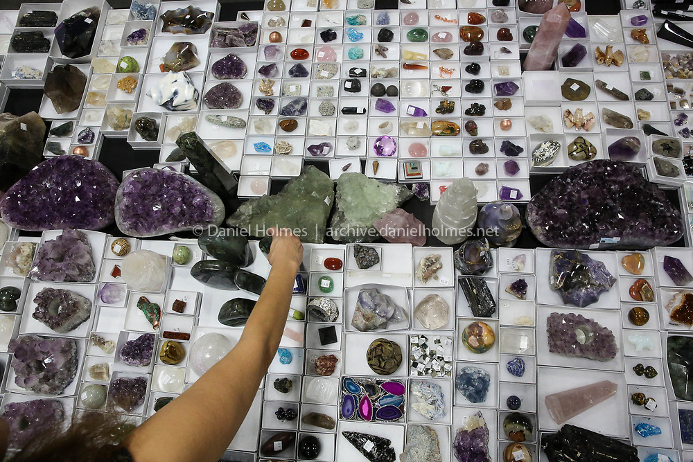 (11/12/17, MARLBOROUGH, MA) Minerals and Gems on display from the the Village Silversmith in Gloucester during the Annual Natural Living Expo at the Best Western Royal Plaza Trade Center in Marlborough on Sunday. [Daily News and Wicked Local Photo/Dan Holmes]