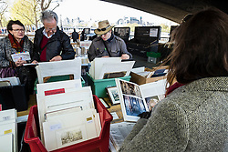 Second-hand  book stalls on the Thames at Southbank in central London United Kingdom
