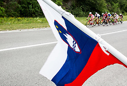 Slovenian flag during Stage 1 of 24th Tour of Slovenia 2017 / Tour de Slovenie from Koper to Kocevje (159,4 km) cycling race on June 15, 2017 in Slovenia. Photo by Vid Ponikvar / Sportida