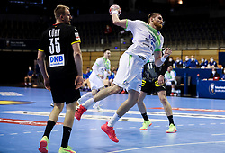 Blaz Blagotinsek of Slovenia during handball match between National Teams of Germany and Slovenia at Day 2 of IHF Men's Tokyo Olympic  Qualification tournament, on March 13, 2021 in Max-Schmeling-Halle, Berlin, Germany. Photo by Vid Ponikvar / Sportida