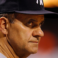 28 June 2007:  New York Yankees manager Joe Torre in action against the Baltimore Orioles.  The game was suspended in the eighth inning due to rain with the Yankees leading 8-6 at Camden Yards in Baltimore, MD.   ****For Editorial Use Only****