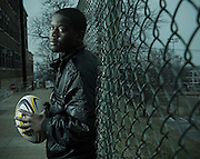 outdoor portrait: rugby player, captured for ESPN Sports Documentary
