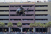 May 21, 2014 - Tampa, Florida, U.S. <br /> <br /> Special Operations Forces Rehearse Invasion Of Tampa<br /> <br /> International Special Operations Forces from many countries around the world work together in a simulated hostage rescue and combating enemy forces on Wednesday, May 21, 2014 in Tampa. The event is a part of the 2014 SOFIC (Special Operations Forces Industry Conference) being held May 20-22, 2014 at the Tampa Convention Center.. This year's conference theme, ''Strengthening the Global SOF Network,''  will provide a forum for military, government, academia, and industry stakeholders to network and discuss current and future challenges and how to best support our Special Operations Forces (SOF) around the globe. There are also manufacture displays of equipment.<br /> ©Exclusivepix