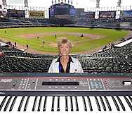 OCTOBER 3, 2010- Long time Chicago White Sox organist Nancy Faust poses for a portrait prior to playing at her last White Sox game on October 3, 2010 at U.S. Cellular Field in Chicago, Illinois.  Faust was the White Sox organist for over 40 years, playing at old and new Comiskey Park as well as U.S. Cellular Field. (Photo by Ron Vesely)