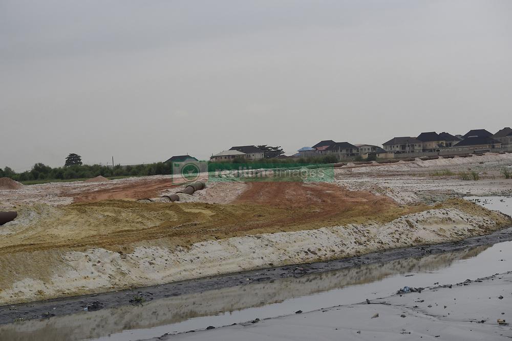 August 7, 2017 - Lagos, Nigeria - Land reclamation is in progress at Iyana-Oworo in Lagos, Nigeria, Monday August 7, 2017. (Credit Image: © Adekunle Ajayi/NurPhoto via ZUMA Press)
