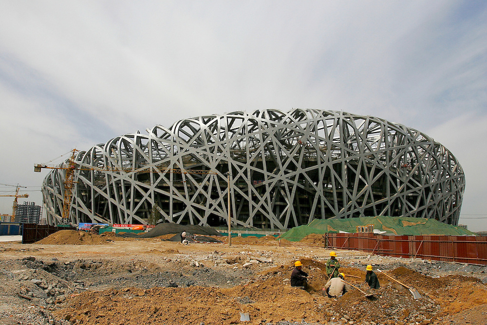 The Olympic Stadium in north east Beijing, China rang in the 500 day countdown for the 2008 Olympic Games on March 27, 2007.